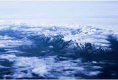Widok górski od samolotowego okno Odgórny widok Fotografia Stock