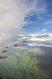 Widok górski od samolotu Zdjęcia Royalty Free