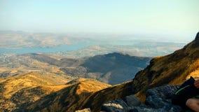 Widok górski przy dnia czasem obrazy royalty free