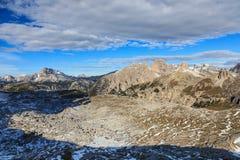 Widok górski przy Dolomitami Zdjęcia Stock