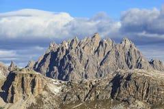 Widok górski przy Dolomitami Zdjęcia Royalty Free