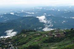 Widok górski przy rankiem Fotografia Stock