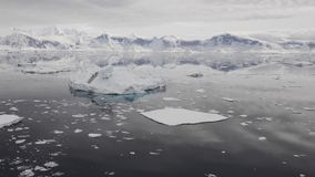 Widok górski w Antarctica zdjęcie wideo