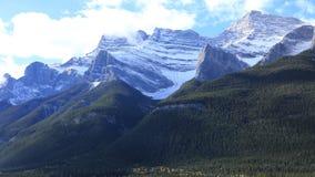 Widok górski w Banff parku narodowym, Kanada Zdjęcia Stock