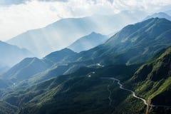 Widok górski w drodze od Sapa Zdjęcia Stock