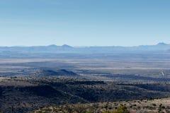 Widok górski w Halnej zebry parku narodowym Obrazy Stock