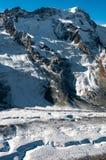 Widok górski w Szwajcarskich Alps, Gorner lodowiec Zermatt Szwajcaria zdjęcia stock