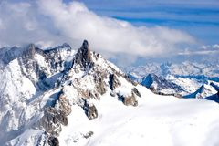 widok górski zima Obraz Stock