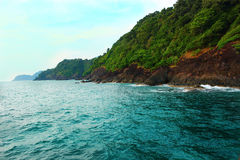 Widok góry i ocean Tajlandia, Koh Chang Zdjęcia Royalty Free
