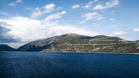 Widok góry na horyzoncie w chorwackim morzu Obrazy Royalty Free