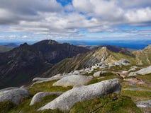 Widok góry od kózki Spadał Arran Zdjęcia Stock