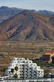 Widok góry od Los Cristianos miasta tenerife wyspa kanaryjska Tenerife Hiszpania Zdjęcia Stock