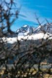 Widok góry przy Aoraki Mt Cook parkiem narodowym Obraz Stock