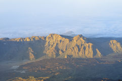 Widok góry, Tenerife, wyspy kanaryjska, Hiszpania Zdjęcie Royalty Free
