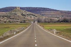 Widok górzysty naturalny krajobraz przy Daroca, Aragon, zdrój Obrazy Royalty Free