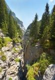 Widok głęboki wapnia wąwóz, Szwajcaria zdjęcie stock