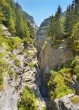 Widok głęboki wapnia wąwóz, Szwajcaria zdjęcia stock