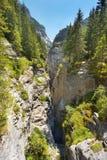 Widok głęboki wapnia wąwóz, Szwajcaria fotografia stock