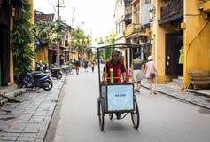 Widok główna ulica w Hoi, Wietnam Obrazy Royalty Free