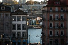 Widok Gaia od Porto i duoro obraz royalty free