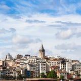 widok Galata okręg w Istanbuł mieście Obraz Stock