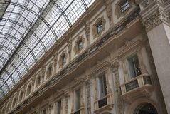 Widok Galleria Vittorio Emanuele II obrazy stock