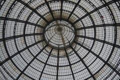 Widok Galleria Vittorio Emanuele II fotografia stock