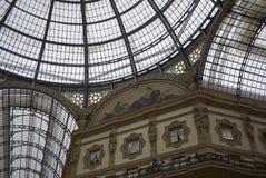 Widok Galleria Vittorio Emanuele II fotografia royalty free