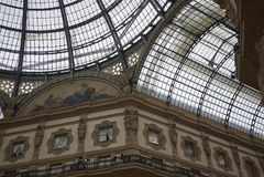 Widok Galleria Vittorio Emanuele II zdjęcie royalty free