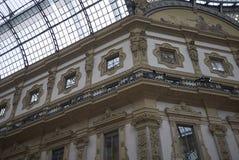 Widok Galleria Vittorio Emanuele II obraz stock