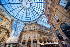 Widok Galleria Vittorio Emanuele II, Mediolan Obraz Royalty Free