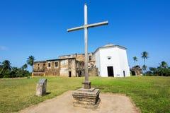 Widok Garcia D'Avila kasztel lub Casa da Torre w Praia, robimy forte, Bahia Fotografia Royalty Free