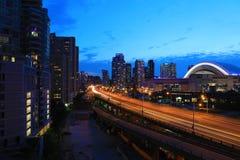 Widok Gardiner autostradą w Toronto, Kanada Zdjęcia Royalty Free