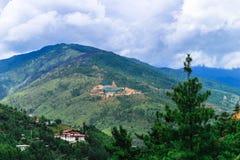 Widok Gigantyczna Buddha Dordenma statua od miasta Thimphu, Bhutan Zdjęcie Stock