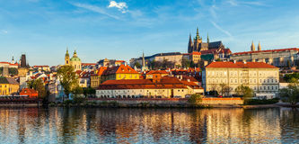 Widok Gradchany Praga kasztel Vitus i St Zdjęcie Royalty Free
