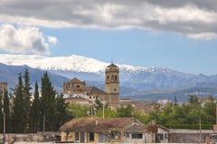 Widok Granada od staci kolejowej, Hiszpania obraz royalty free
