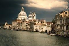 Widok Grande kanał w Wenecja przed burzą fotografia stock