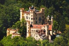 Widok grodowy Hohenschwangau, Bavaria, Niemcy Zdjęcie Royalty Free