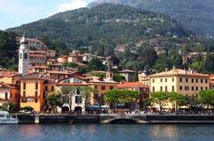 Widok grodzki Menaggio na jeziornym Como w Włochy Zdjęcia Royalty Free