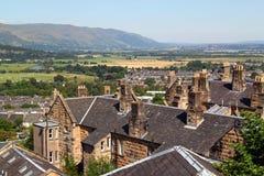 Widok grodzki Stirling od Stirling kasztelu w Szkocja Obrazy Royalty Free