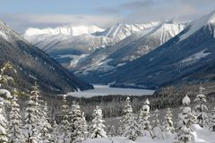 widok górski zima Obrazy Royalty Free