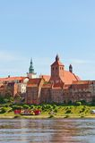 Widok Grudziadz miasteczko, Polska Zdjęcie Royalty Free