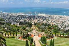 Widok Haifa od wzgórza obrazy royalty free