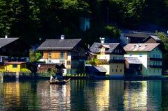 Widok Hallstatt, Austria - Obraz Stock