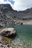 Widok halny glacjalny jezioro Zdjęcie Stock
