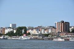 Widok Hamburg w Niemcy Zdjęcie Stock