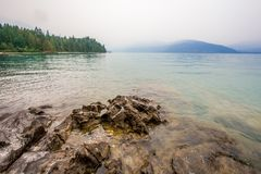 Widok Harrison jezioro blisko Harrison gorących wiosen kolumbiów brytyjska Canada Obrazy Stock