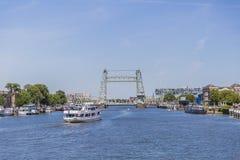 Widok Hef jest popularnym imieniem Koningshaven most obrazy stock