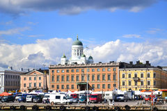 Widok Helsinki od morza Zdjęcia Royalty Free