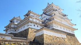 Widok Himeji kasztel, Hyogo, Japonia zdjęcia royalty free